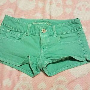 Light green American Eagle shorts